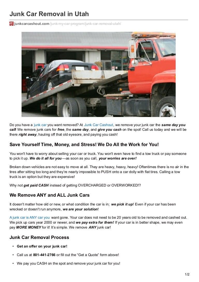 Junk Car Removal in Utah