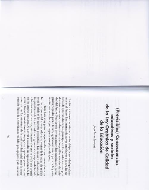 «(Previsibles) consecuencias educativas y sociales de la ley orgánica de calidad de la educación» -  Jurjo Torres Santomé (2003)