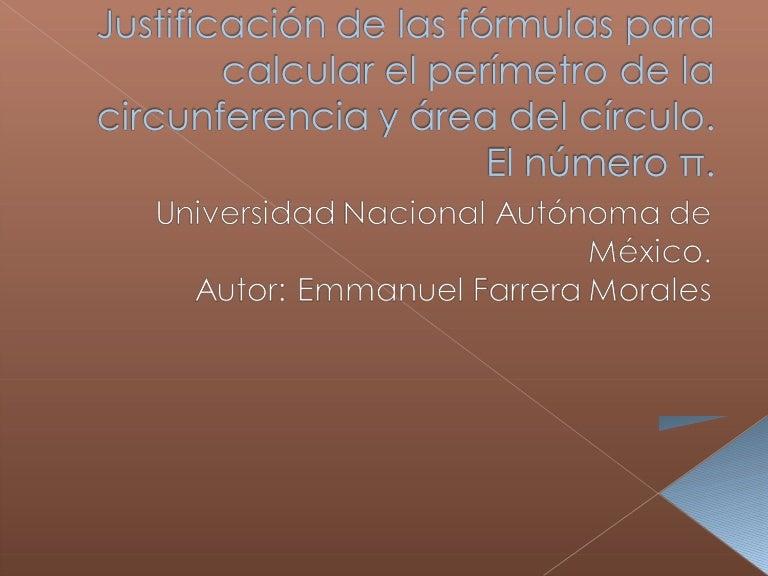 Justificación de las fórmulas para calcular el perímetro de la circun…