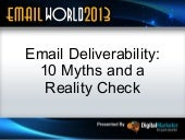 Email Deliverability: 10 Myths and a Reality Check