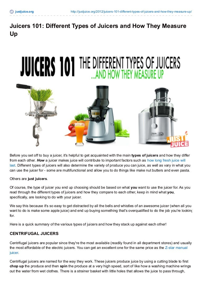 Juicer: how to choose the best