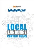 Juxt Consult India Online 2007 Local Language Content Users Report