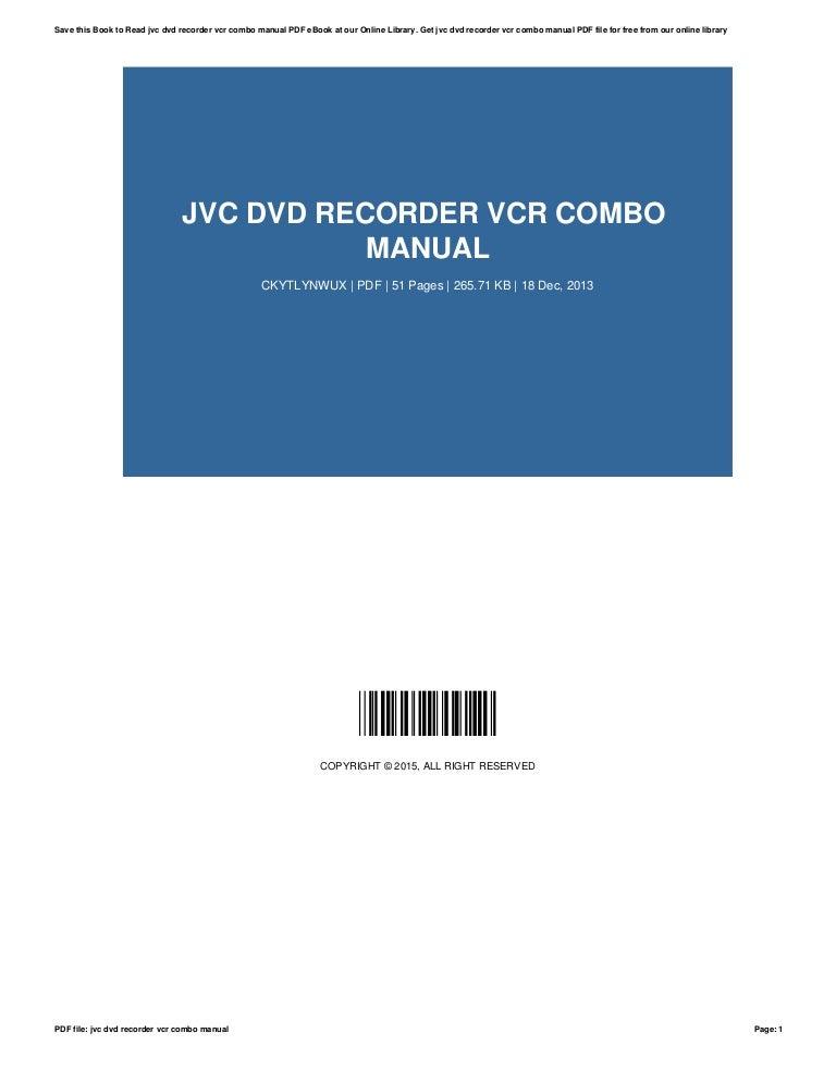 jvc dvd recorder vcr combo manual rh slideshare net Sony DVD Recorder jvc dr-m10s dvd recorder manual