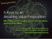 5 Keys to an Amazing Value Proposition