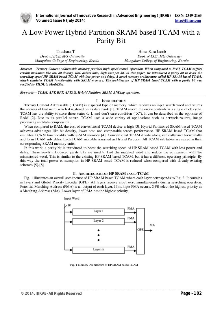 A Low Power Hybrid Partition Sram Based Tcam With Parity Bit Hierachical Priority Encoder Jyec1008615 160224175540 Thumbnail 4cb1456340130