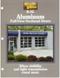 K-AL Aluminum Full-View Sectional Doors