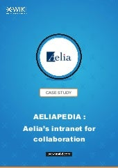 An collaborative intranet: the Aelia case study