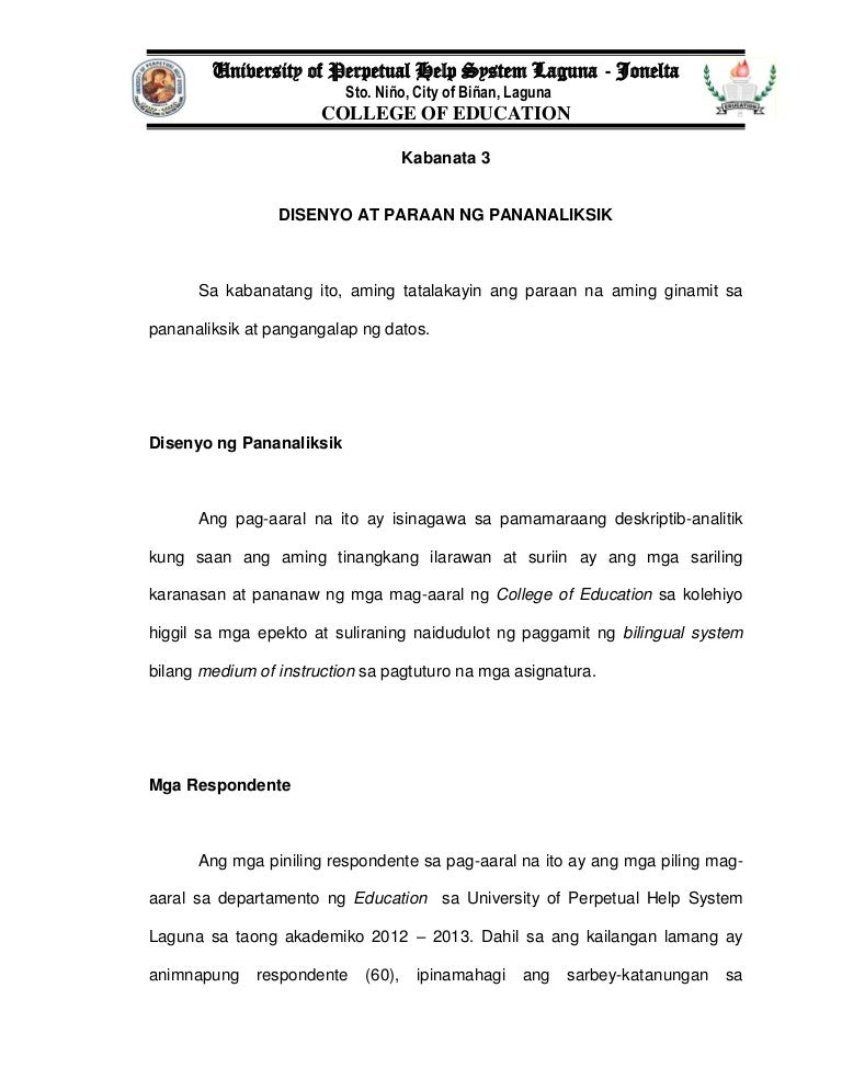 thesis kabanata 3 respondente