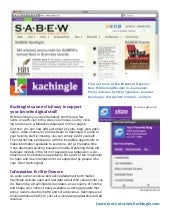 Kachingle handout for SABEW annual meeting 2011