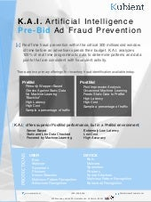 K.A.I Artificial Intelligence Powered Pre-Bid Ad Fraud Prevention