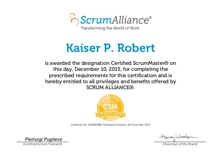 agile certified scrum master, csm - scrumalliance