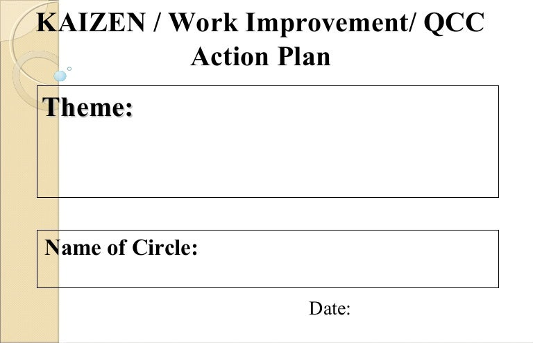 Quality Control Circle Action plan : A brief format