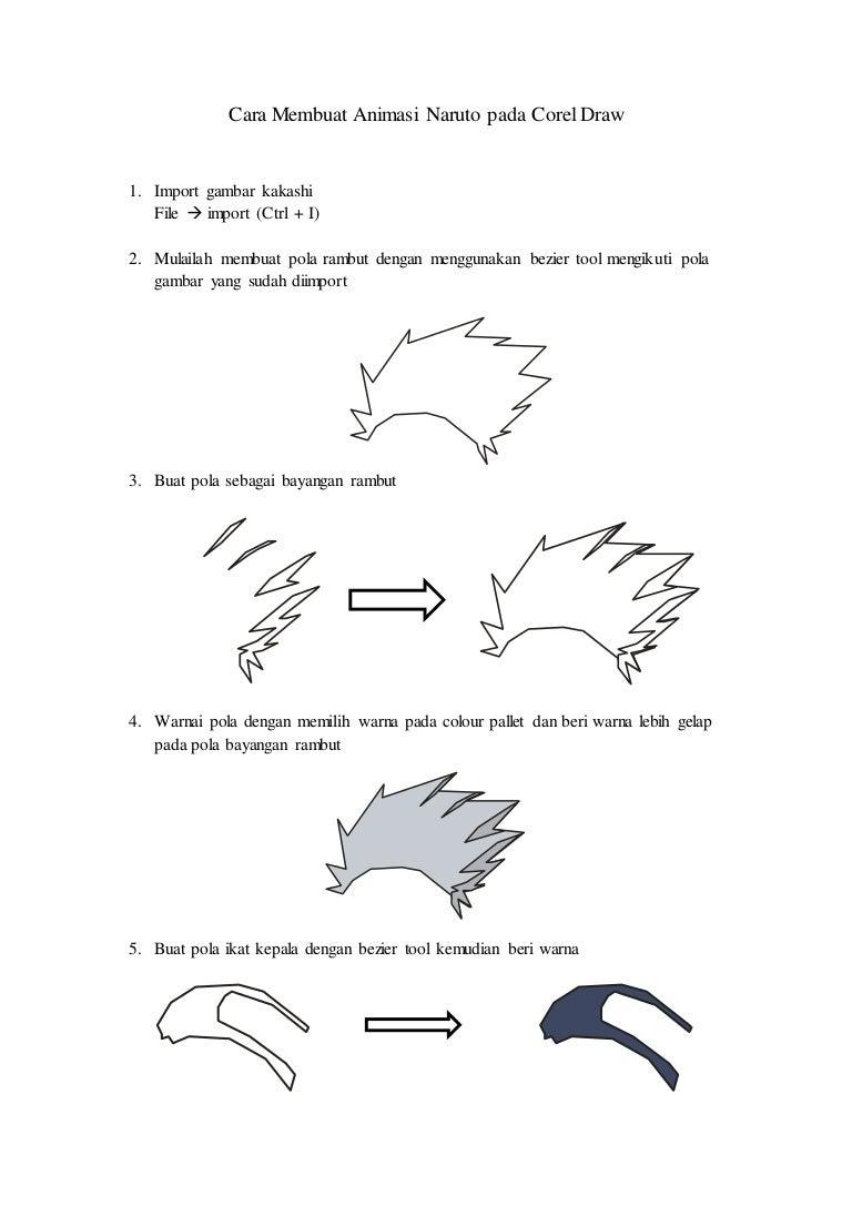Cara membuat animasi kakashi naruto pada corel draw