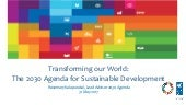 Rosemary Kalapurakal: Transforming our World: The 2030 Agenda for Sustainable Development