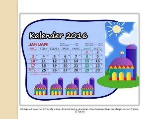 Kalender 2016 meja saku masjid kartun lengkap libur nasional jawa arab