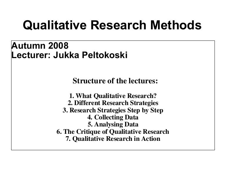 essays on qualitative research methods Qualitative methods methods of qualitative research (undergraduate level).