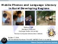 Mobile Phones and Language Literacy in Rural Developing Regions (By Matthew Kam)