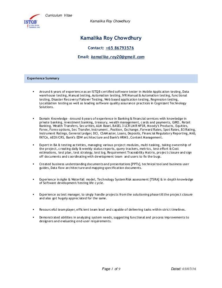 Kamalika Qa TestLead