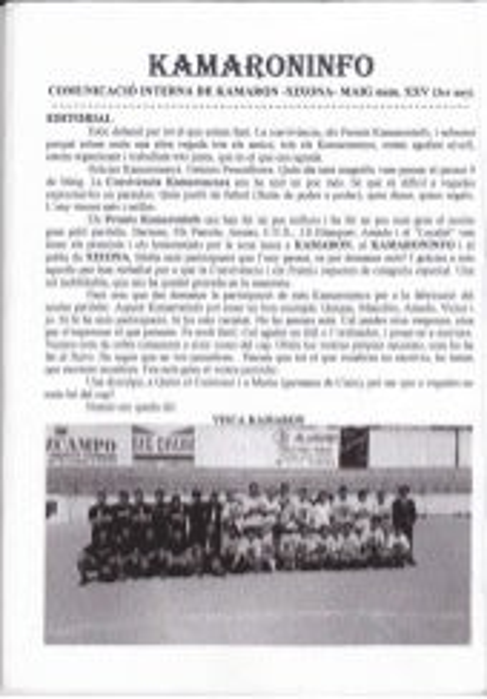 Kamaroninfo núm. 25 maig 1998