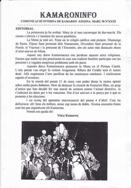 Kamaroninfo núm 23 març 1998