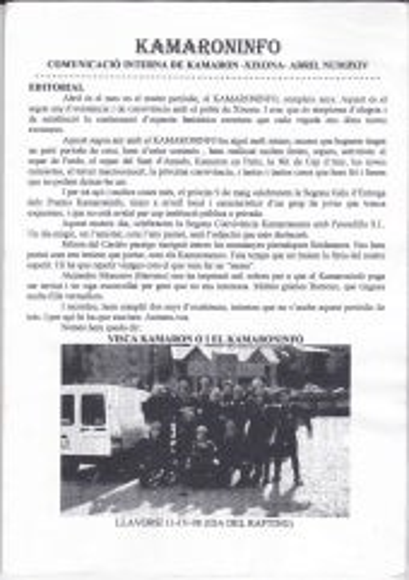 Kamaroninfo núm 24. abril 1998