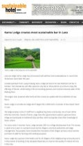 Sustainable Hotel News Spotlights the New Bar of Luang Prabang Eco-friendly Resort Kamu Lodge