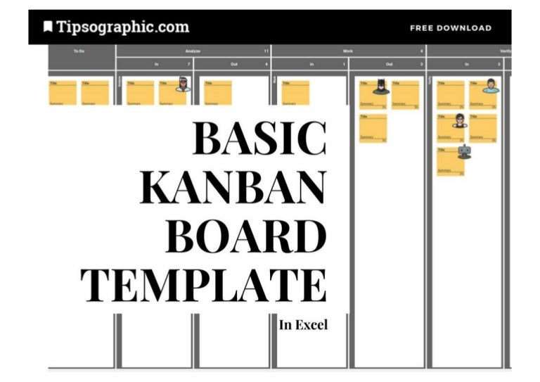 Basic Kanban Board Template for Excel with WIP Limits ...