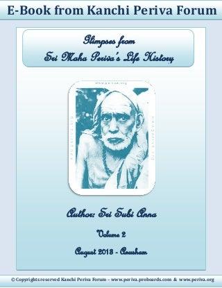 Kanchi Periva Forum - Ebook on Sri Maha Periva's Life History - Volume 2