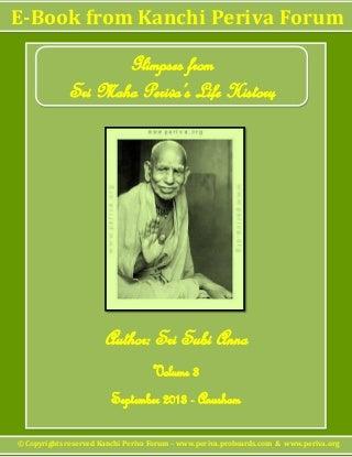 Kanchi Periva Forum - Ebook on Sri Maha Periva's Life History - Volume 3