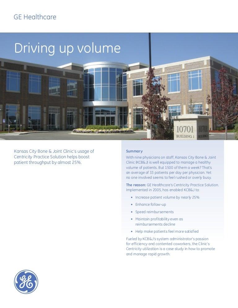 Driving up volume: Kansas City Bone & Joint Clinics Case Study