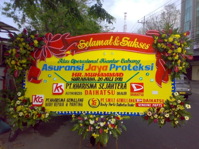 Karangan Bunga Happy Wedding