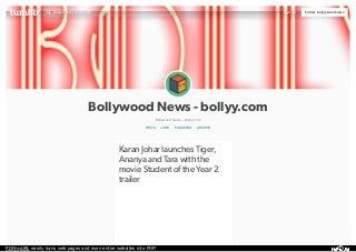 Karan Johar launches Tiger, Ananya and Tara with the movie Student of the Year 2 trailer