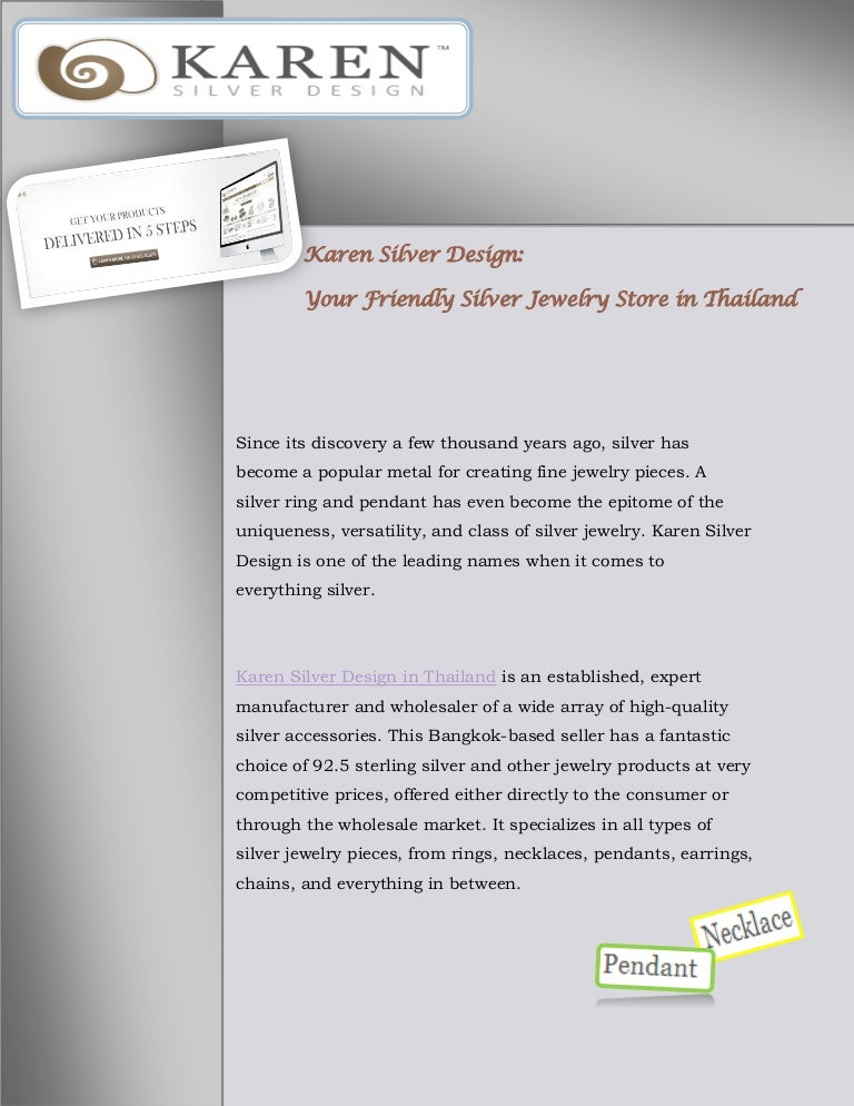Karen Silver Design Your Friendly Silver Jewelry Store In Thailand