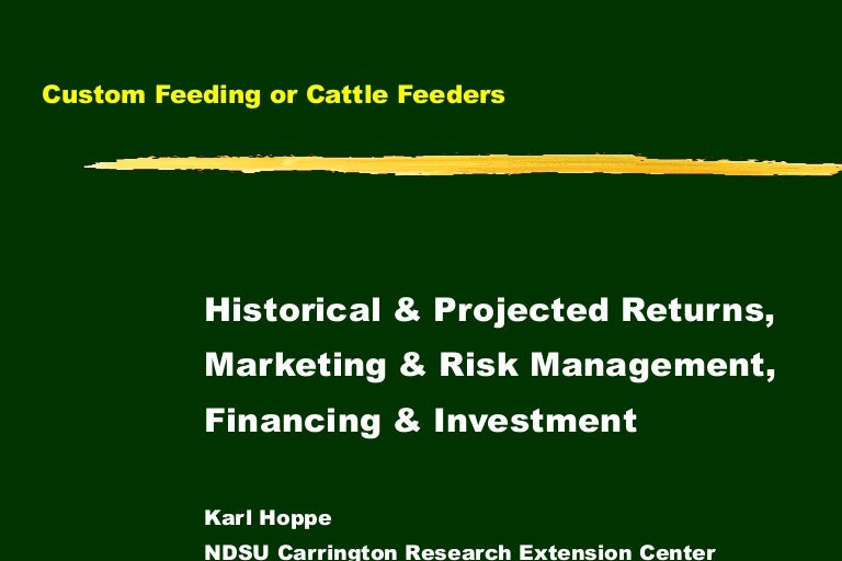 Custom Feeding or Cattle Feeders