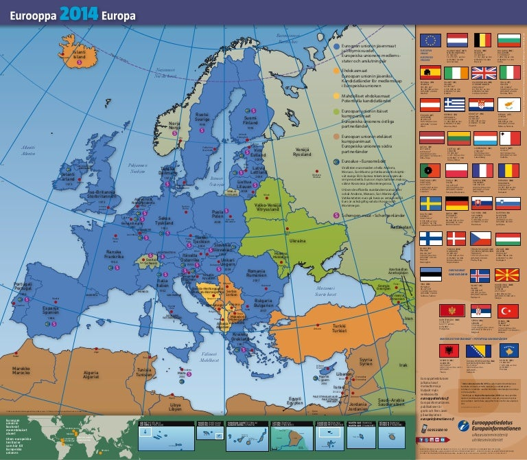 Eurooppa 2014 Kartta Europa 2014 Kartan