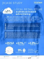 [K]ase Study: Local Retail Audience-Based Digital Advertising
