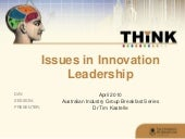 Issues in Innovation Leadership