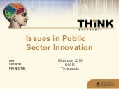 Issues in Public Sector Innovation