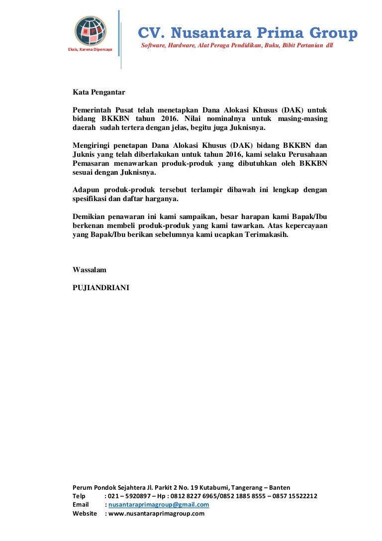 Katalog Produk Bkkbn Tahun 2016