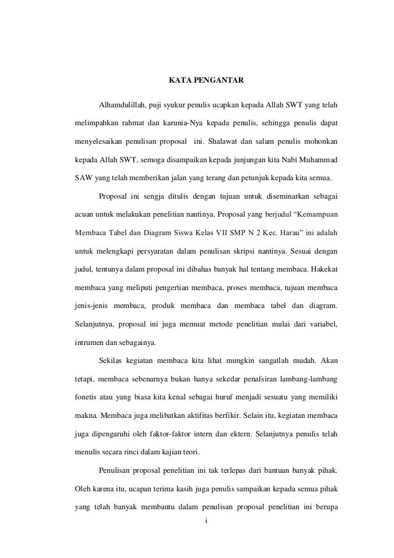 Proposal Penelitian Kemampuan Membaca Tabel Dan Diagram Kata Pengan