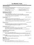 Katherine Gear's 2014 resume