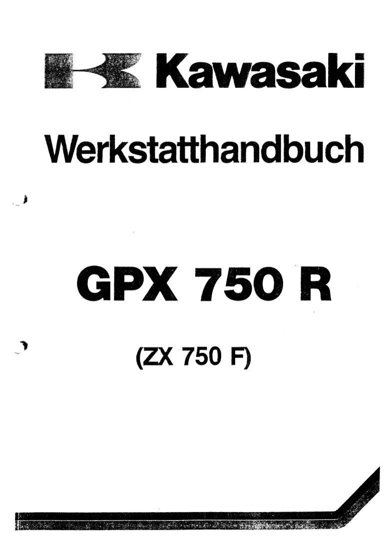 Kawasaki Gpx750 R(Zx750 F1) Service Manual Ger By Mosue