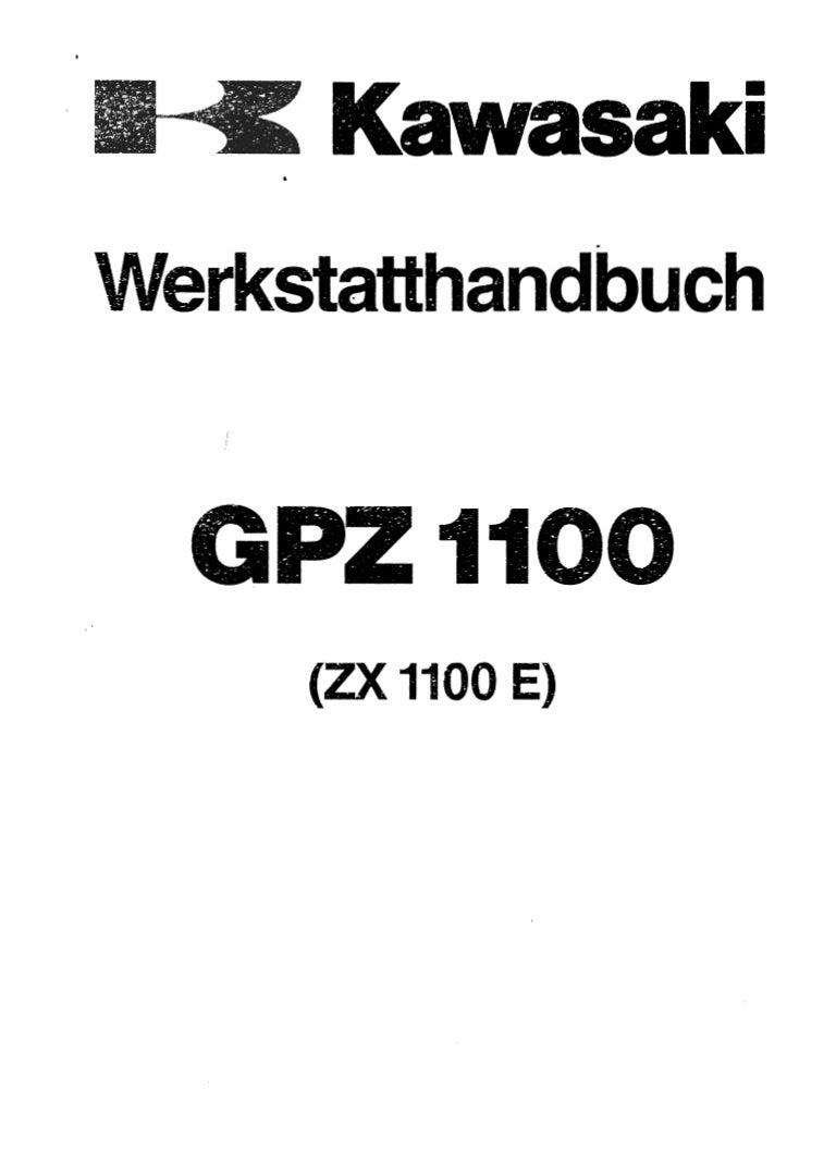 Kawasaki Gpz 1100 E Manual De Reparatie Www
