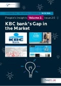 KBC Bank's Gap In The Market: People's Insights Volume 2, Issue 20