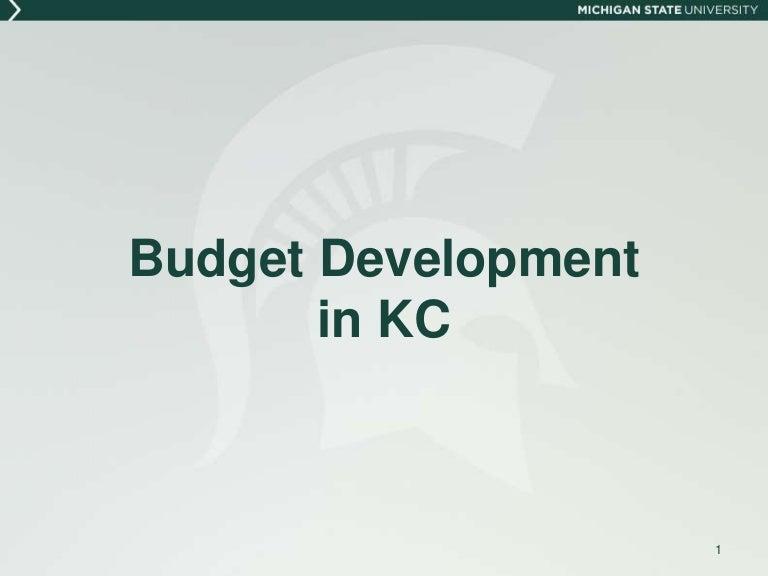 Budget Development In Kc