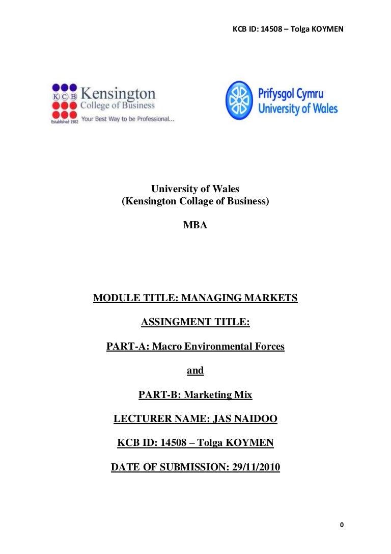 managing markets macro environmental forces and marketing mix com