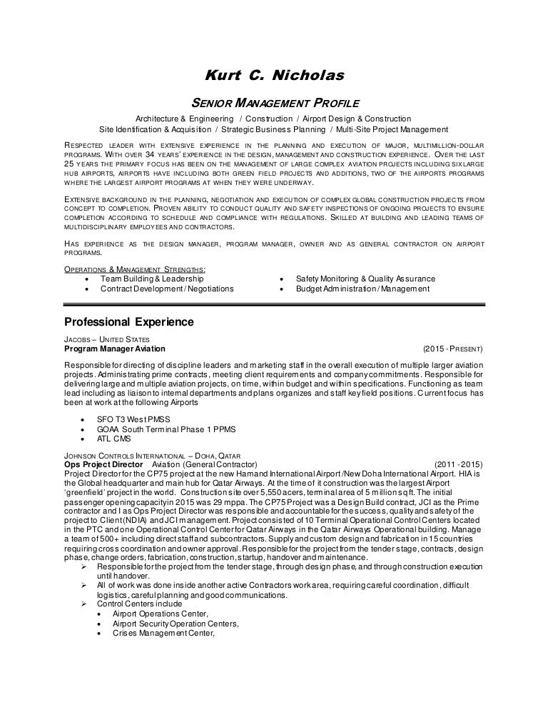Fancy Airfield Management Resume Elaboration - Administrative ...
