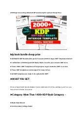 2000 high converting editable KDP book and Idea