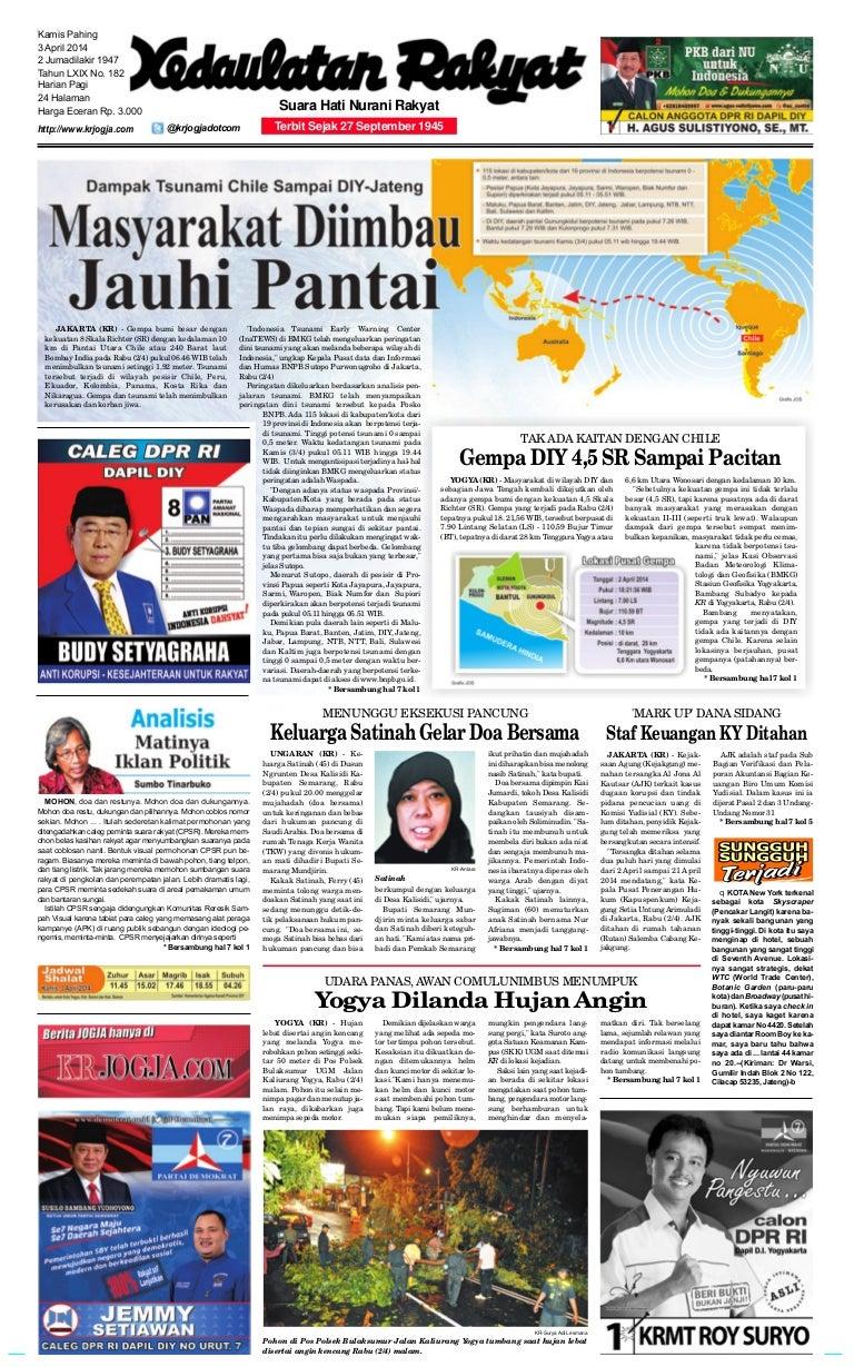 Kedaulatan Rakyat 3 Maret 2014 Kemeja Anak Tangan Panjang Kotak Orange Variasi 78 Rsby 2854