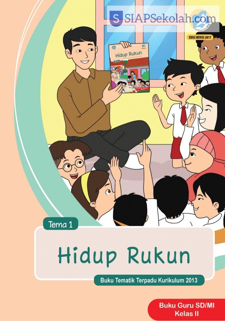 Buku Bse Kelas 02 Sd Tematik 1 Hidup Rukun Guru 2017
